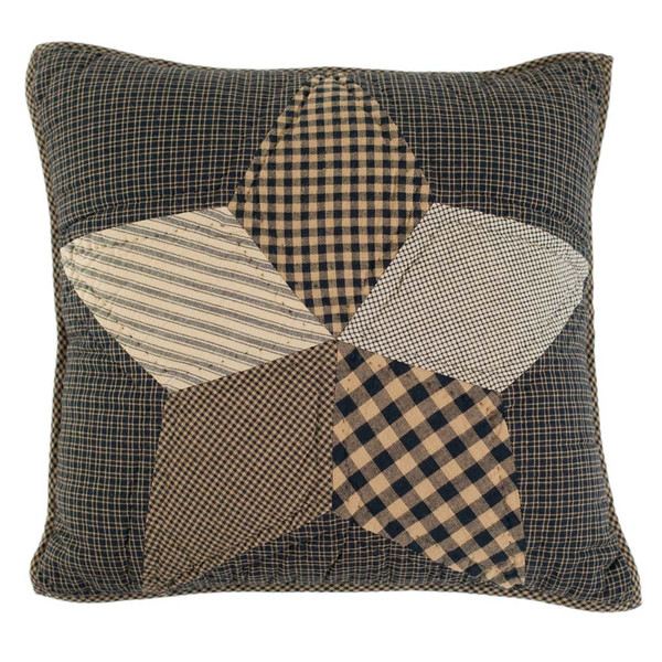 """Farmhouse Star 16"""" Quilted Pillow"""