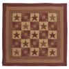 Ninepatch Star Queen Quilt Flat