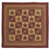 Ninepatch Star King Quilt Flat