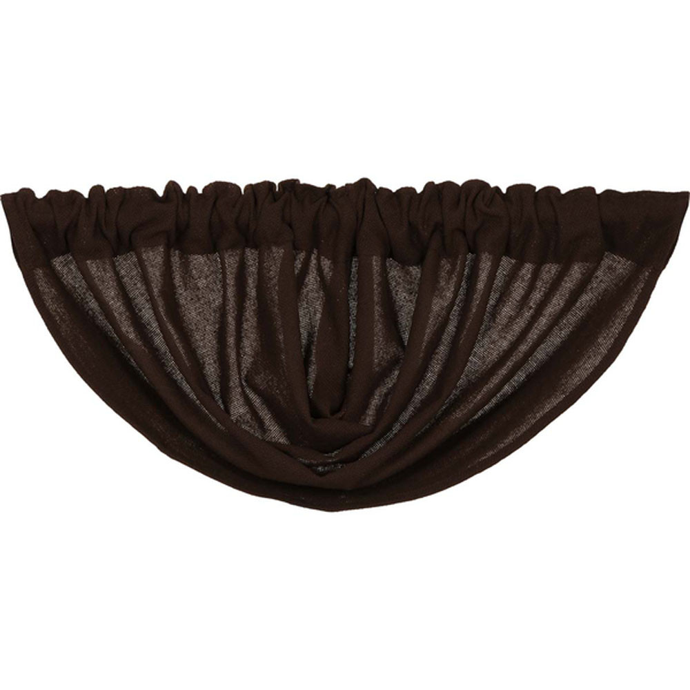 Burlap Chocolate Balloon Valance By Vhc Brands