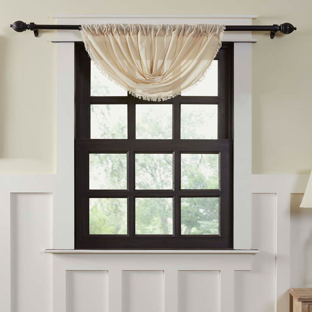 Tobacco Cloth Natural Balloon Valance By Vhc Brands