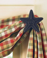 Black Star Curtain Hooks