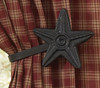 Black Star Curtain Tie Backs