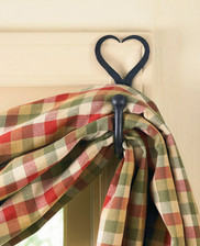 Split Heart Curtain Hooks