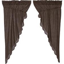 Kettle Grove Plaid Prairie Curtain Set