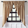 Burlap Natural Prairie Curtain Set