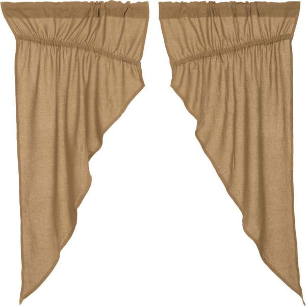 Burlap Natural Prairie Curtain Set