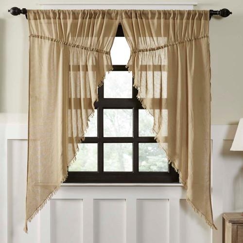 Tobacco Cloth Khaki Prairie Curtain Set