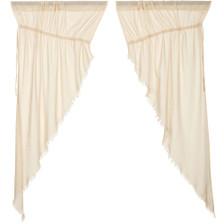 Tobacco Cloth Natural Prairie Curtain Set