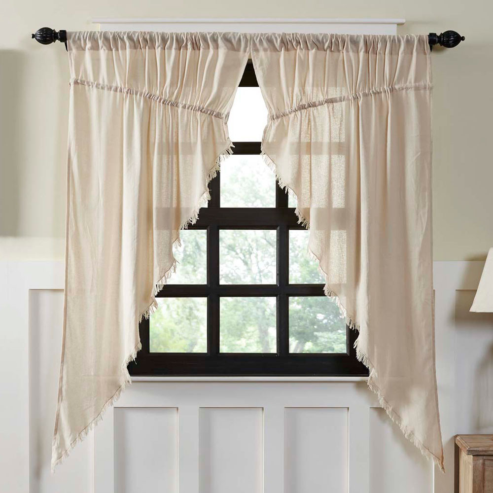 Tobacco Cloth Natural Prairie Curtain Set By Vhc Brands