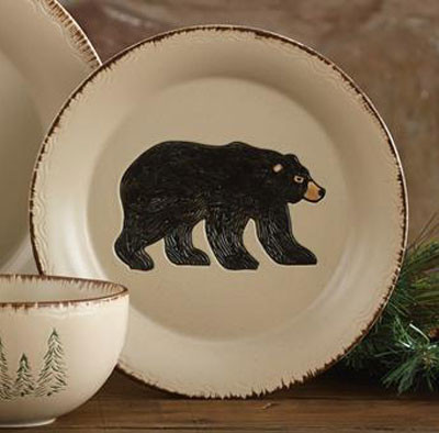 Rustic Retreat Bear Salad Plate Set Of 4 By Park Designs
