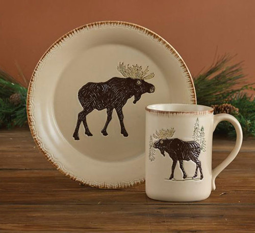 Rustic Retreat Moose Salad Plate