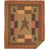 Stratton Quilted Throw Blanket Flat