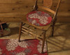 Pinecone Hooked Chair Pad
