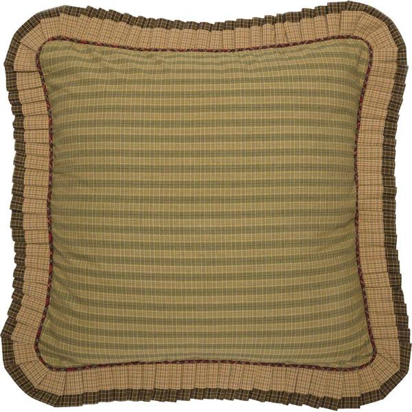 Tea Cabin Ruffled Fabric Euro Sham