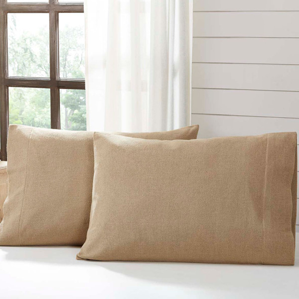 Burlap Natural Pillowcase Set