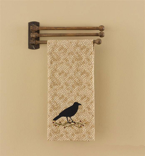 3 Prong Wooden Towel Rack