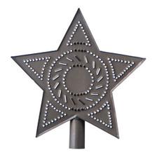 Star Tree Topper in Blackened Tin
