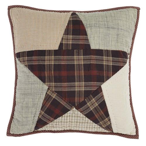 "Abilene Star 16"" Quilted Pillow"