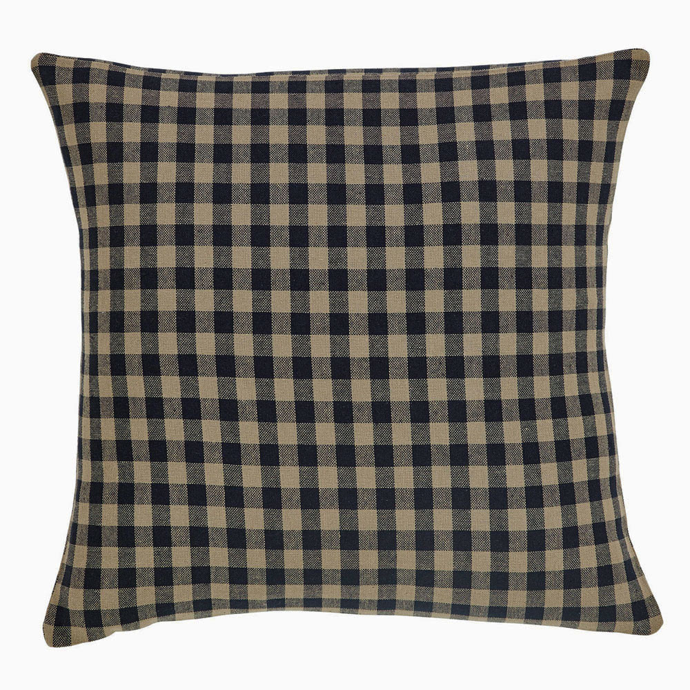 Black Check Pillow Fabric By Vhc Brands