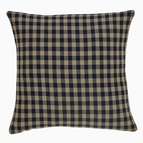 Black Check Pillow Fabric