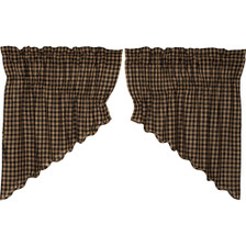 Black Check Scalloped Prairie Swag