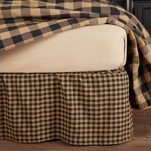 Black Check Bed Skirt