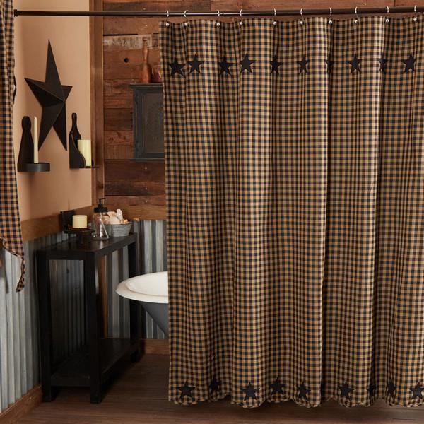 Black Star Shower Curtain