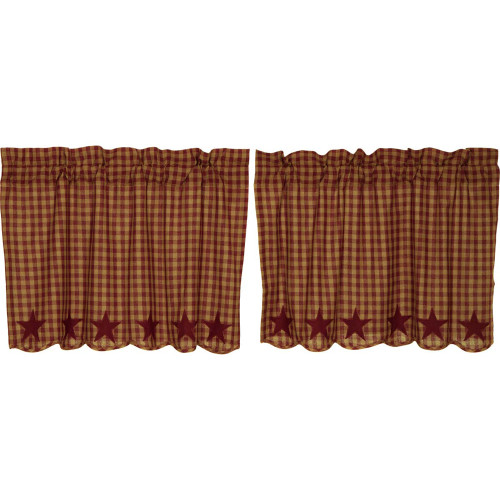 Burgundy Star Scalloped Tier Set - 24 x 36