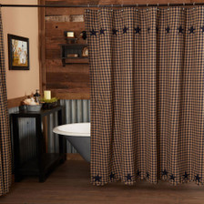 Navy Star Shower Curtain