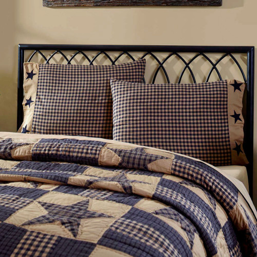 Teton Star Applique Star Pillowcase Set