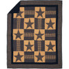 Teton Star Quilted Throw Flat