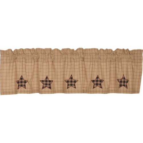 Bingham Star Applique Star Valance