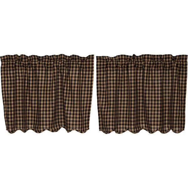 Black Check Scalloped Tier Set - 24 x 36