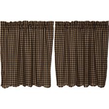 Black Check Scalloped Tier Set - 36 x 36