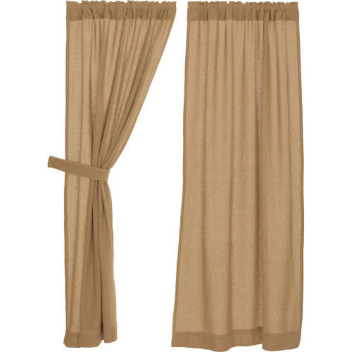 Burlap Natural Short Panel Set