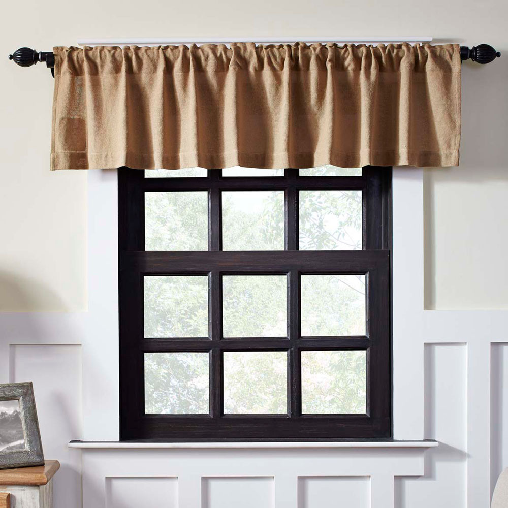 Burlap Natural Valance By Vhc Brands