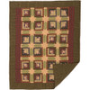 Tea Cabin Quilted Throw Blanket Flat