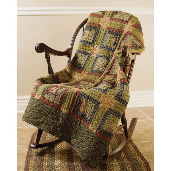 Tea Cabin Quilted Throw Blanket