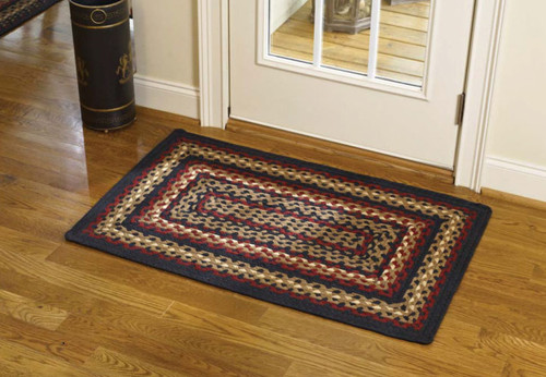 Folk Art Braided Rectangle Rug