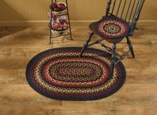 Folk Art Braided Oval Rug