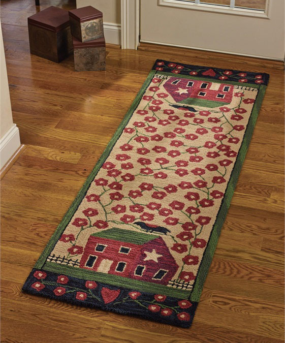 Red House Hooked Rug Runner By Park Designs