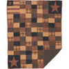 Patriotic Patch Quilted Throw Flat
