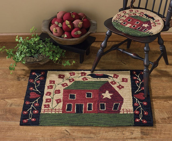 Red House Hand-Hooked Rug