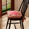 Burgundy Star Chair Pad