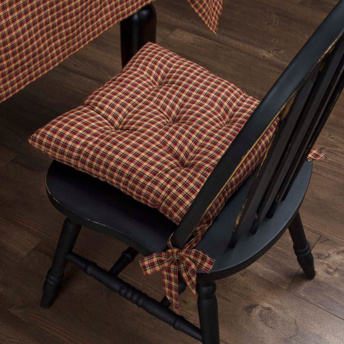 Patriotic Patch Plaid Chair Pad
