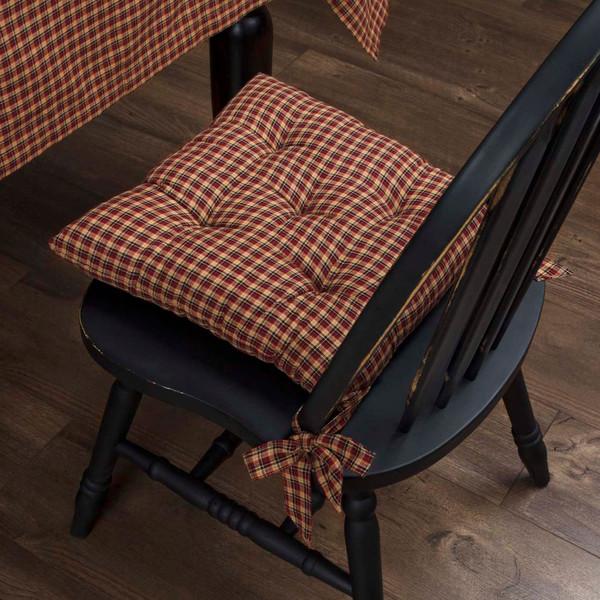 Patriotic Patch Plaid Chair Pad