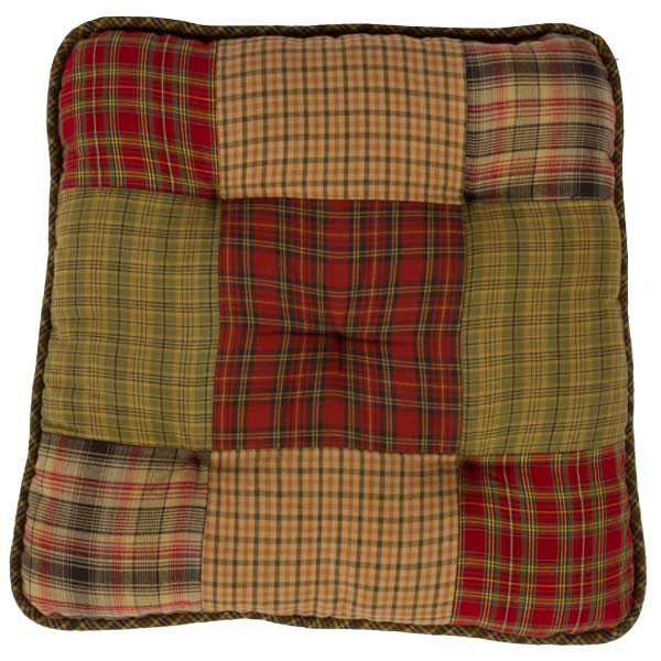 Tea Cabin Plaid Patchwork Chair Pad