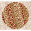 Harvest Braided Jute Rectangle Rug - Closeup