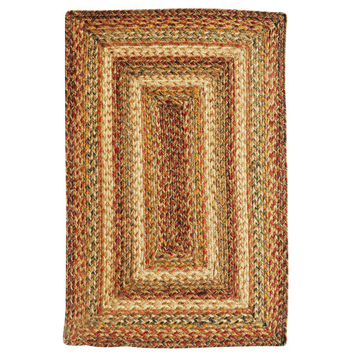 Harvest Braided Jute Rectangle Rug